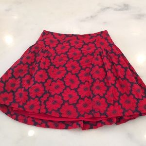lavand Skirts - NWT Lavand Red & Navy floral skirt